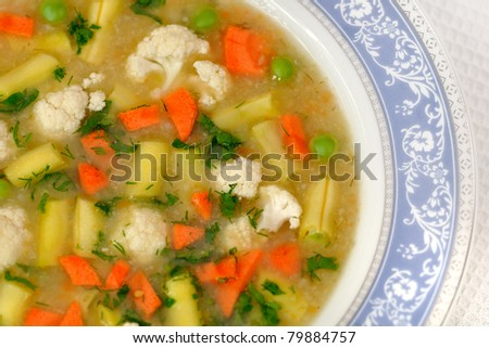 fresh homemade vegetable soup