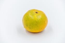 Fresh Honeysuckle orange in Thailand fruit isolated on white background