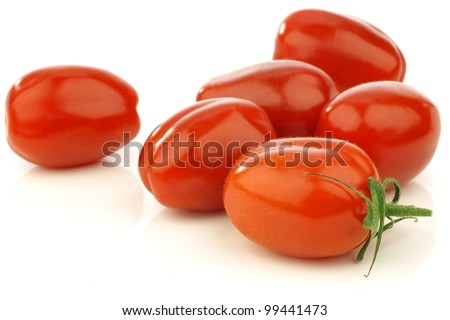 fresh italian pomodori tomatoes on a white background