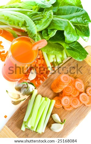 Fresh juice in assortment with fruit