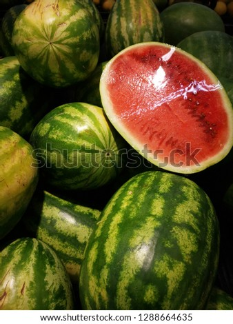 fresh juicy watermelon #1288664635