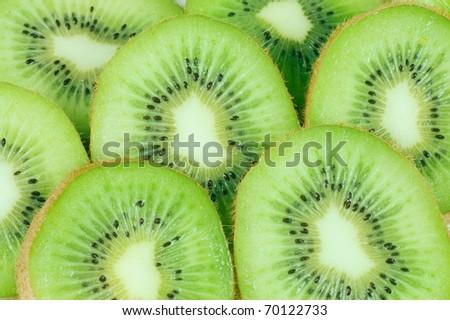 Fresh kiwi as a backgroundFresh kiwi as a background - stock photo