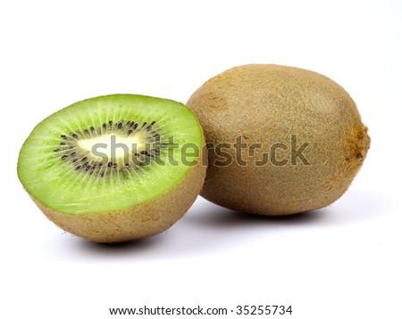 Fresh kiwi isolated on white background