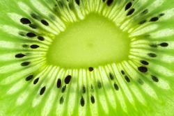 Fresh kiwi slice closeup background