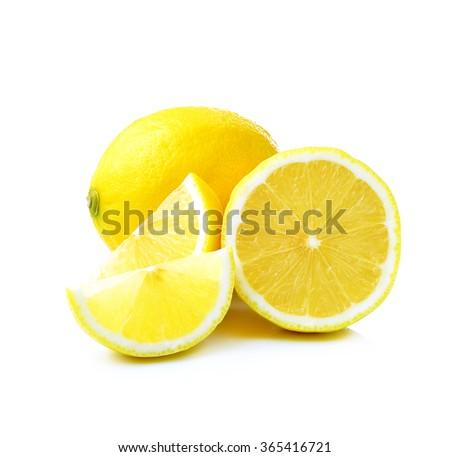 fresh lemon isolated on white...
