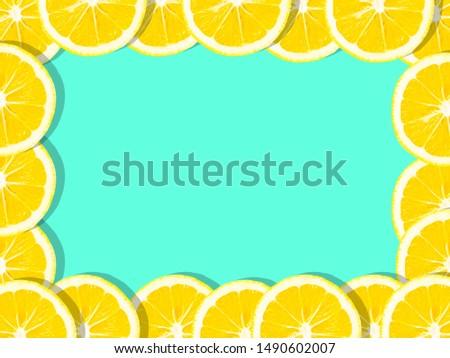 Fresh lemon (lemons) pattern on pink background. Minimal concept. Summer minimal concept. Flat lay frame