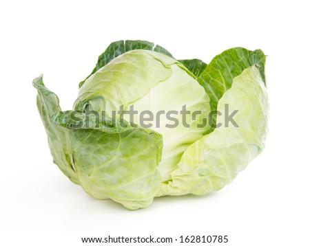 Fresh lettuce vegetables isolated on white