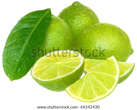 Fresh lime green on a white background.