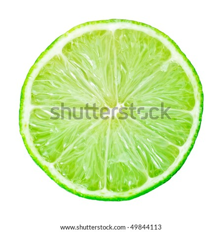 Fresh lime isolated on white background