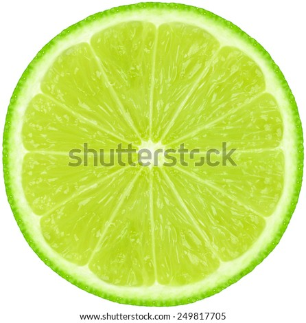 fresh lime slice isolated on white #249817705