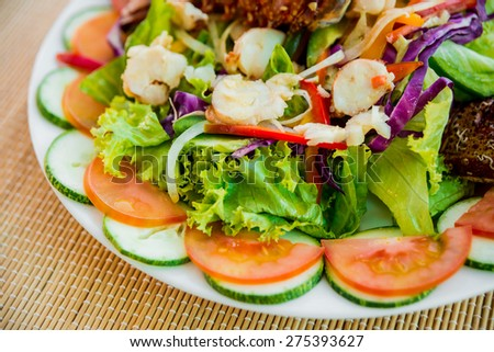 free photos fresh lobster with seafood sald restaurant avopix com