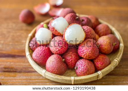 Fresh lychee when delicious