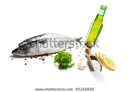 Fresh mackerel and spices