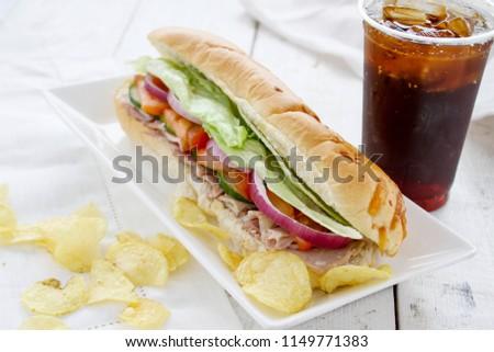 fresh made sub sandwich