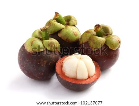 Fresh mangosteen sweet delicious fruit of Thailand