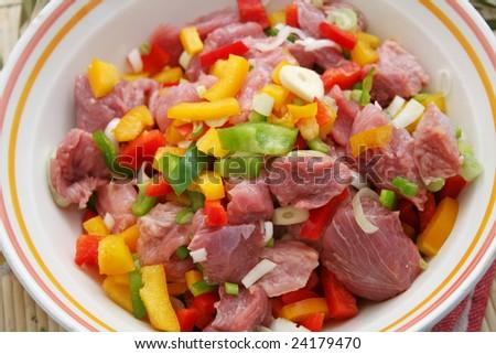 fresh meat of turkey