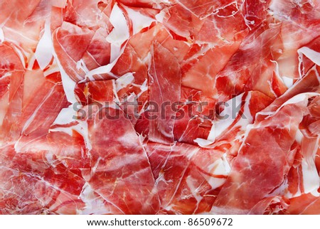 fresh meat slices background - stock photo