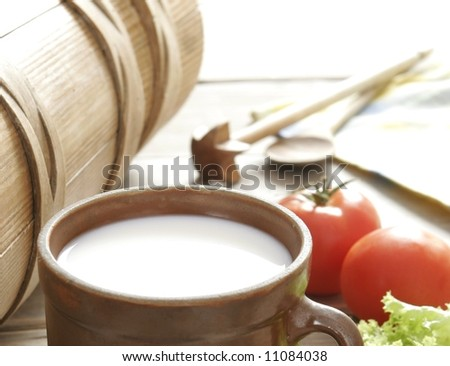 fresh milk - stock photo