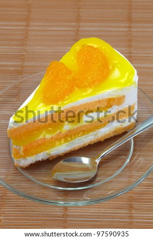 Fresh milk orange cake.