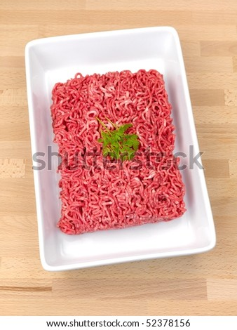 Fresh minced beef - stock photo