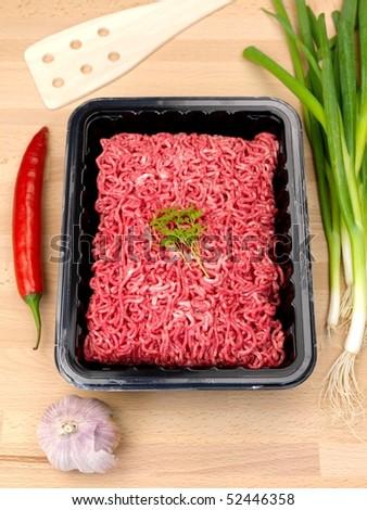 Fresh minced beef