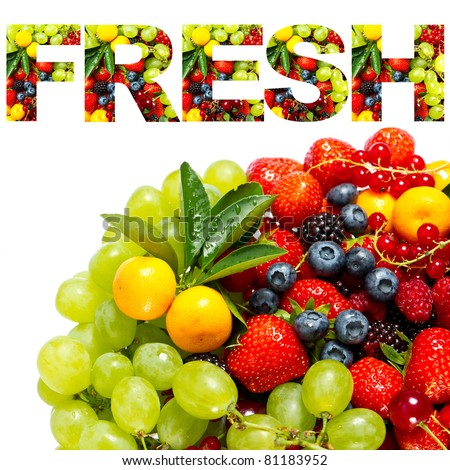 FRESH. mix of fruits and berries