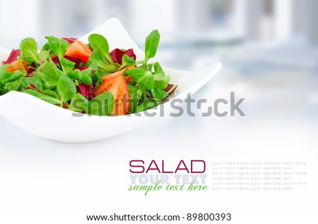 Fresh mixed salad with tomatoes
