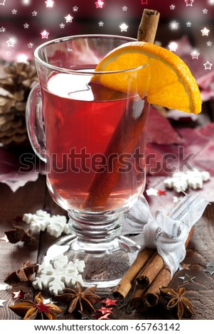fresh mulled wine for christmas