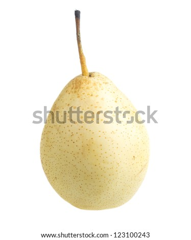 fresh nashi pear on a white background