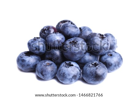 Fresh natural blueberries isolated on white. Concept berries, vitamin. #1466821766