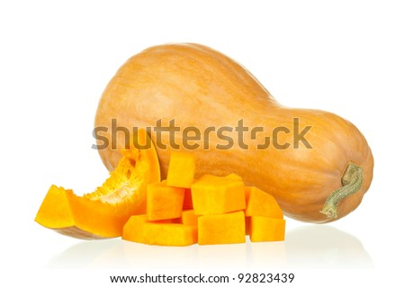 Fresh nice pumpkin isolated on white background