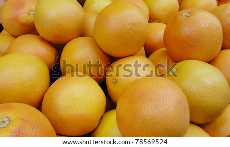 fresh orange background in supermarket