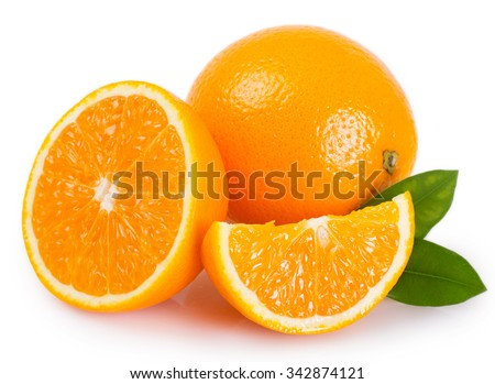 Shutterstock fresh orange isolated on white background