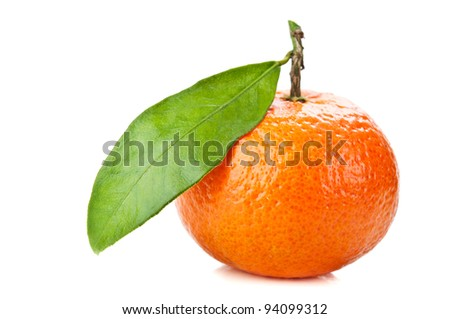 fresh orange mandarin isolated on a white background