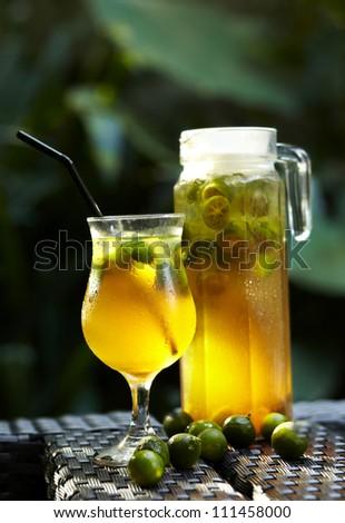 Fresh orange tea