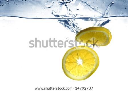fresh orange water splash