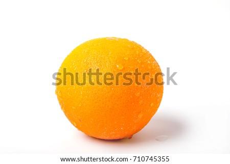 Fresh oranges are on the white background Zdjęcia stock ©