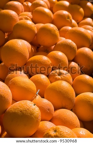 Fresh Oranges at Farmers Market