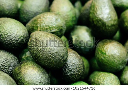 Fresh organic avocado at farmer's market