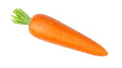 Fresh organic carrot isolated on white background.