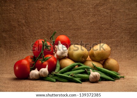 fresh organic food - stock photo