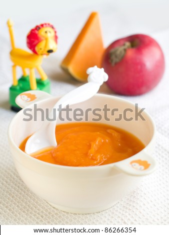 Fresh, organic pureed vegetables for baby. Shot for a story on homemade, organic, healthy baby foods.