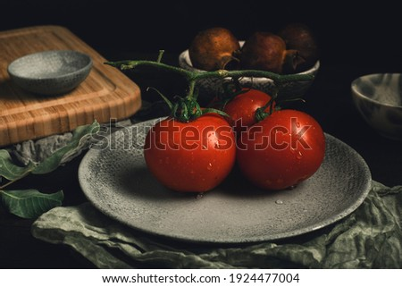 fresh organic tomato healty food vegetable Stock fotó ©