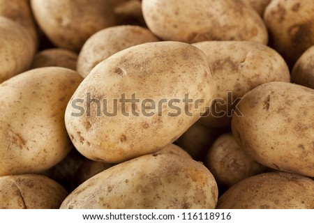 Fresh Organic Whole Potato on a background