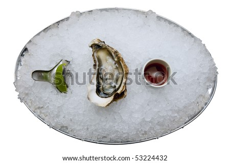 Fresh oyster on a white background