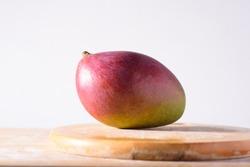 Fresh palmer mango fruit on white background, Tropical fruit