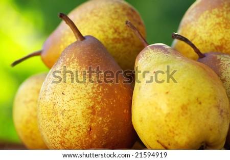 Fresh pears.