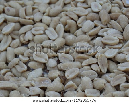 Fresh peeled peel and peeled shells, legumes are many useful substances, eat as a snack or in cooking. #1192365796