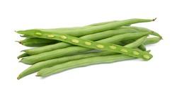 fresh Phaseolus vulgaris isolated on a white background