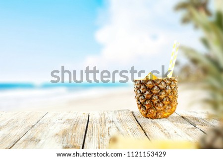 Fresh pineapple and summer time.